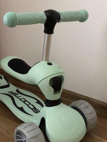 Новый Детский Самокат трансформер 2 в 1. Skoot&ride