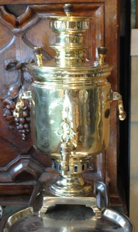 Самовар антикварний медальний на дровах приготування справжнього чаю.