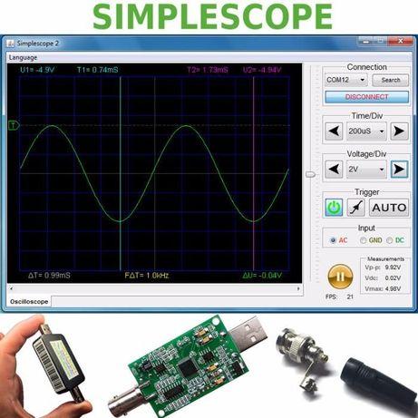 Цифровой USB осциллограф приставка для компьютера Simplescope