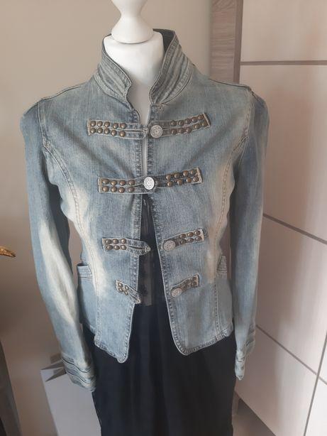 Kurtka narzutka promond unisono jeansowa stylizowana XS S slim leviso