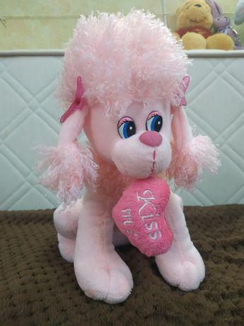 Игрушка розовая собачка