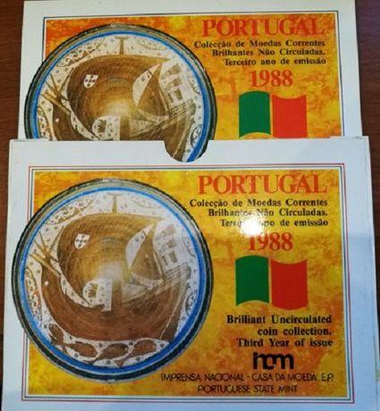 Carteira moedas Portugal BNC serie 1988 INCM