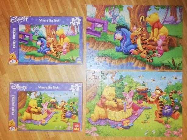 Disney Puzzle Kubuś Puchatek Winnie the Pooh Trefl 100 i 160