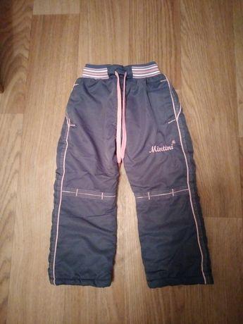 Утеплённые штанишки для девочки