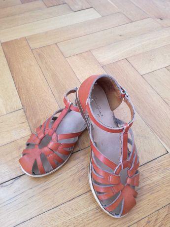 Sandałki zara, 29, skórzane
