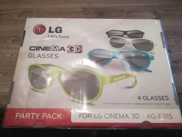 Okulary 3D LG Cinema Glasses 3D AG-F315 komplet 4 szt.