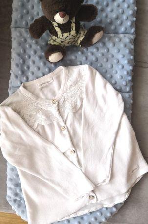 Sweterek dla dziewczynki dziecięcy niemowlę biały 92 Newbie Kappahl