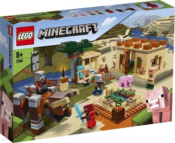 Lego Minecraft Najazd złosadników 21160 Nowy zestaw.