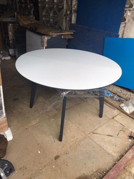 Stół Jadalniany Kuchenny do salonu 4 osoby stolik okrągły biały grafit