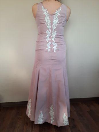 Suknia wieczorowa szyta na miarę rozmiar 44,46
