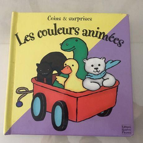 """Livro Infantil """" Les Couleurs Animeés"""" - Novo"""