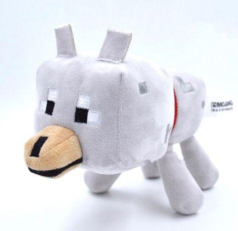 """Мягкая игрушка """"Волк"""" из игры Майнкрафт 17см Minecraft (Wolf) вовк"""