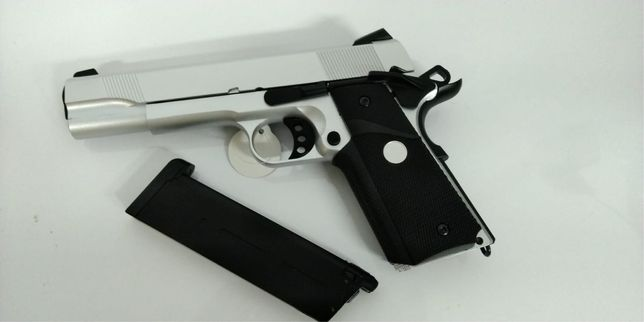 Pistola 1911, PRATA, NOVA, blowback, Green Gas - Airsoft