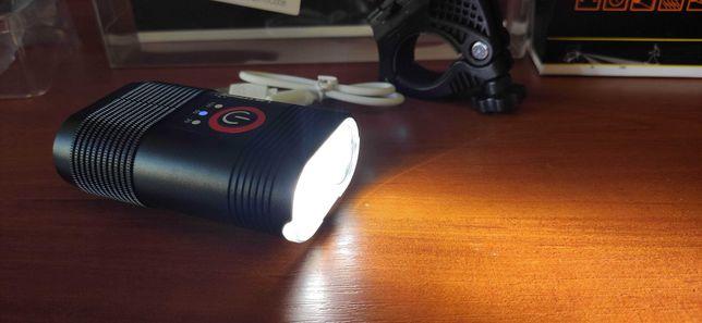 VastFire аккумуляторный фонарик на велосипед Cree 2x XM-L T6