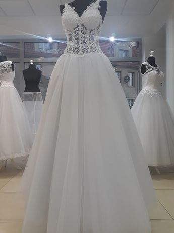 suknia ślubna księżniczka- rozmiar 38