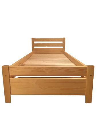 Łóżko 'W' sosnowe drewniane hotelowe do pensjonatu dziecięce 90x200