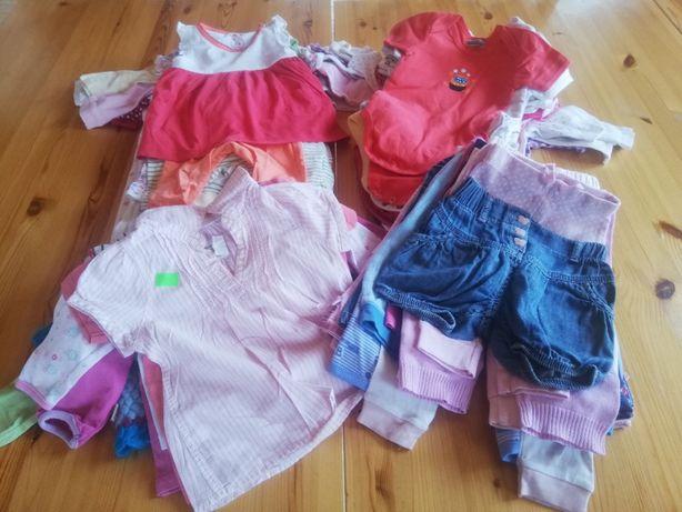 Duży zestaw paka ubranek dla niemowlaka, r. 68-74, ponad 60 szt.