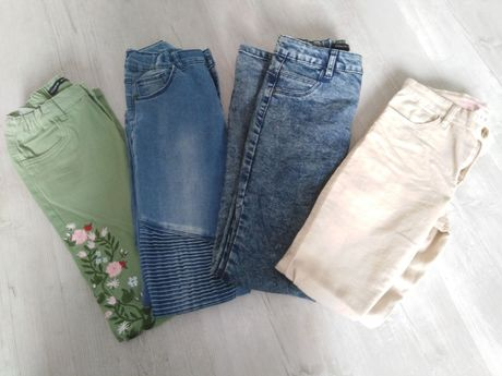 Spodnie dziewczęce Reserved i H&M 152