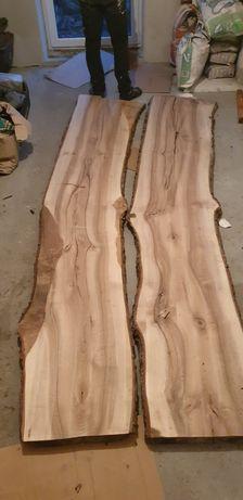 Stół blat drewno orzech włoski deska foszt żywica wood loft drewno