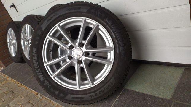 """Koła alumioniowe ALUETT 16"""" 5x112 opony zimowe 205/60/16 AUDI SEAT VW"""