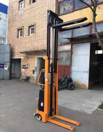 Штабелер электрический SKIPER на 1500 кг, электро штабелер кара