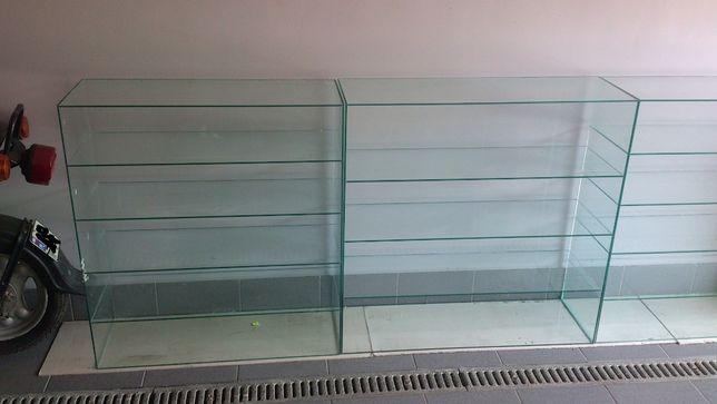 Szklane półki , nadstawki szklane