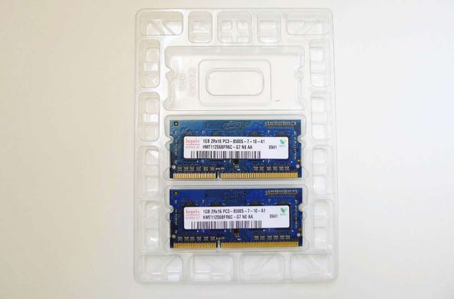 Memória RAM 2 Gb (2 Unidades de 1 Gb) - PC3-8500 - DDR3 1066 Mhz