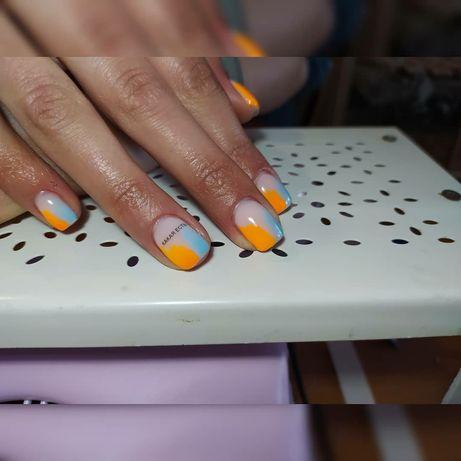 Приглашаю на маникюр с покрытием ногтей гель-лаком, наращивание ногтей