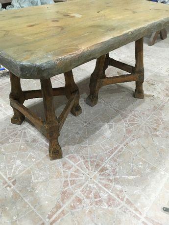 Stół barowy z litego drewna 140 długości