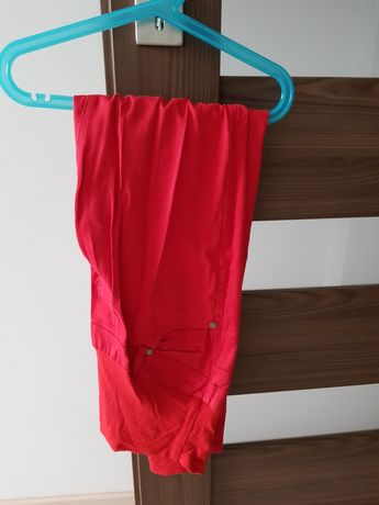 Happymum modne czerwone spodnie ciążowe