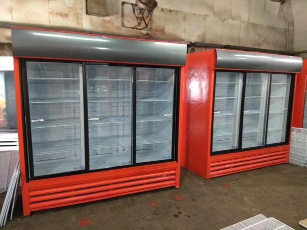 Витрина шкаф холодильная 0+8С трехдверная Эверест б\у гарантия