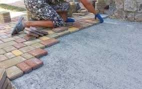 Укладка тротуарной плиткой, Тротуарная плитка, Бордюры, отливы