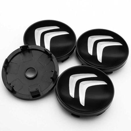 Centros/tampas de jante completos Citroen e DS com 56, 60, 65 e 68 mm