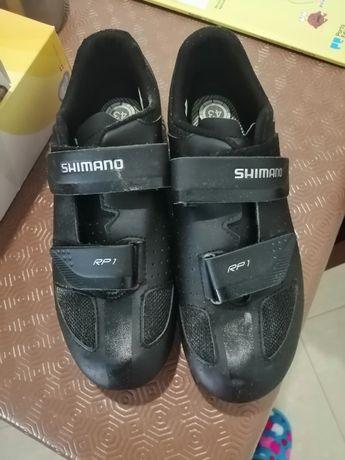 Sapatos encaixe ciclista shimano t 43