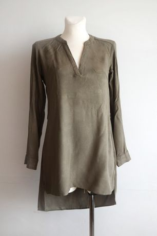 Koszula tunika khaki zielona wiskoza S