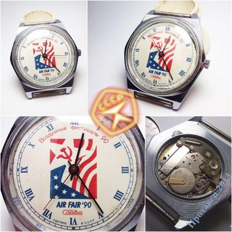 Часы Слава кварц Воздушный фестиваль '90 СССР РЕДКОСТЬ Обслужены!