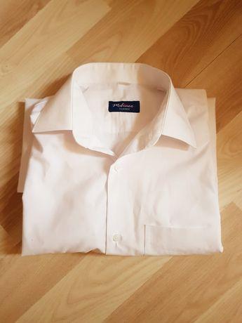 Koszula męska biała elegancka długim rękawem