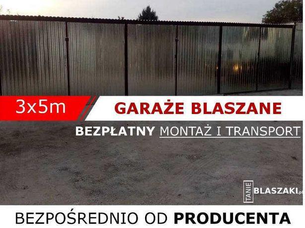 Producent - garaż blaszany 3x5, 4x5, 5x5, 6x6, 6x7 -TRANSPORT GRATIS