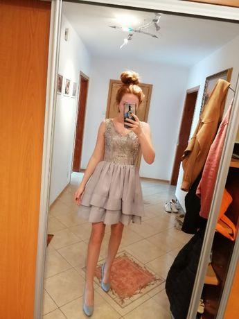 Sukienka XS szara
