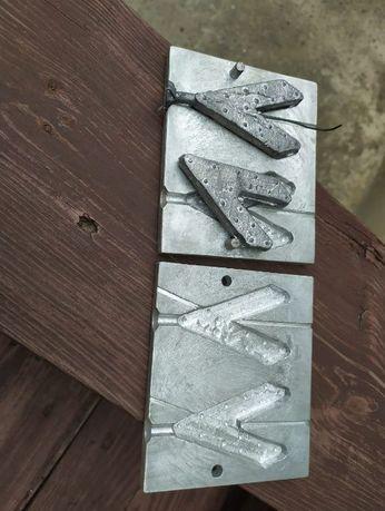 Форма, Пресформа (алюминий) для отливки грузил 160 г. 250 грн.