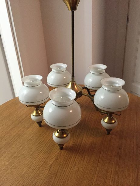 lampa/żyrandol  , / +2 klosze/ -  PRL