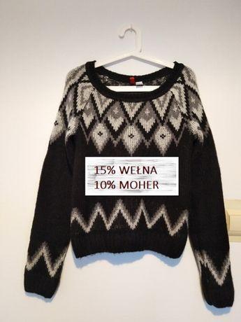 Wełniany sweter ROZMIAR M