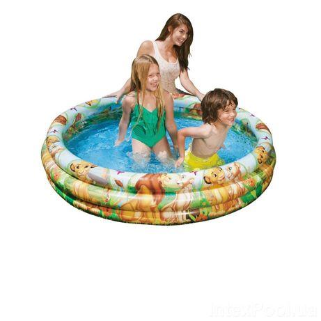 Детский надувной бассейн Intex 58420 «Король Лев», 147х 33см