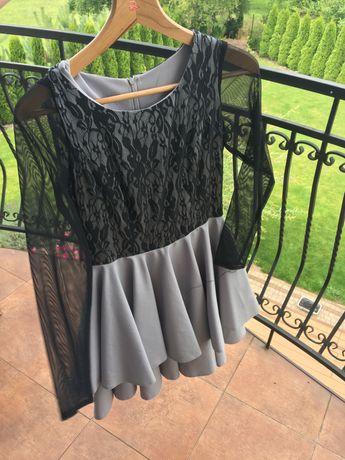 Śliczna sukienka rozm 36 S koronka sylwester studniówka wesele