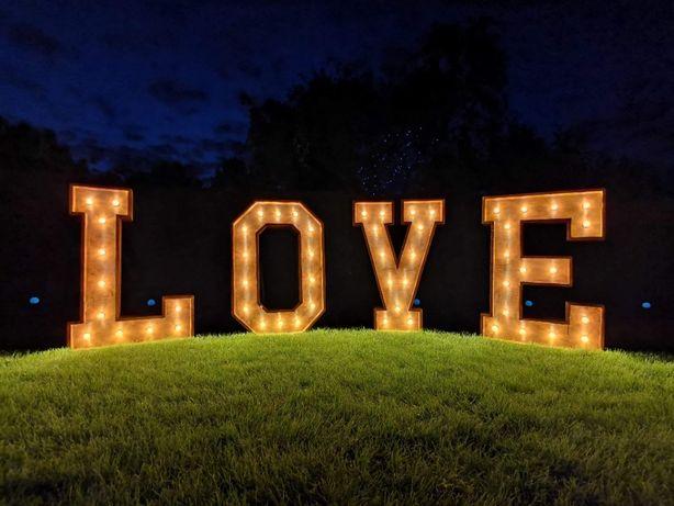 drewniany napis LOVE 124cm wysokości !!!