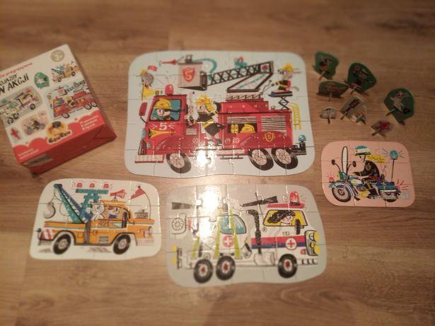 Puzzle dla dzieci czu czy pojazdy w akcji, wiek 3+