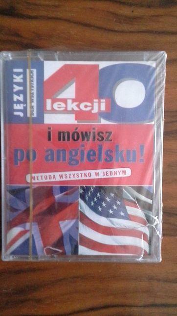 40 lekcji i mówisz po angielsku - 2 taśmy magnetofonowe - Nowe