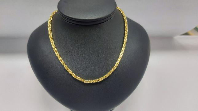 Złoty łańcuszek, splot królewski, 60cm [585]