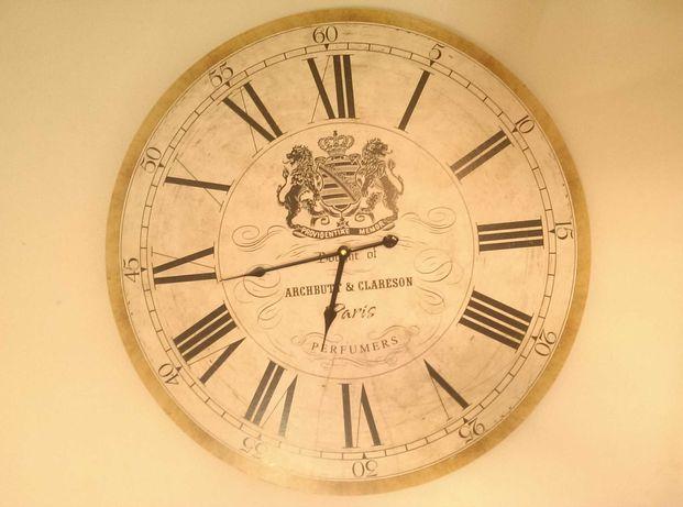 Piękny zegar ścienny w stylu vintage. Średnica 60 cm.