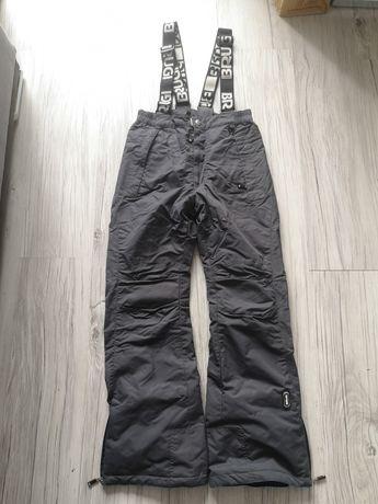 Nowe spodnie narciarskie grafitowe Brugi S